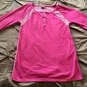 """Lucky Brand"" Purple Mixed Thermal Top"